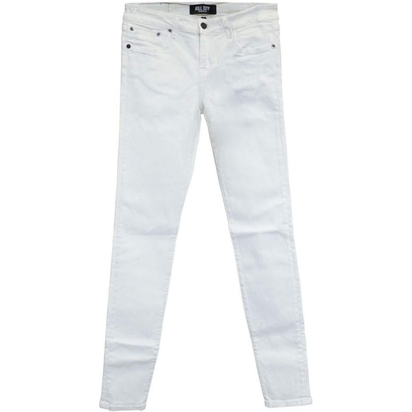 KILL CITY LADIES JUNKIE FIT JEANS WHITE MADE IN USA 63-673