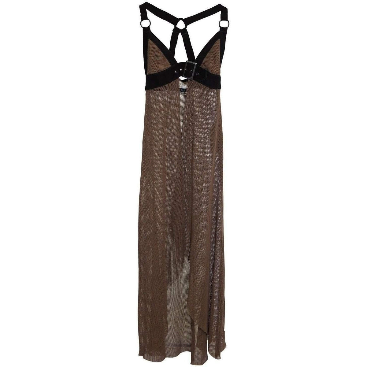 LIP SERVICE Neoburner Maxi High Low Mesh Dress Cover W/ Leather Straps!