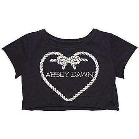 ABBEY DAWN HOLD FAST CROP TOP