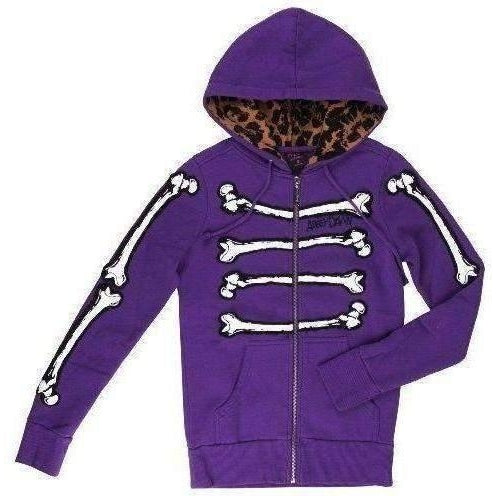 ABBEY DAWN BONE DANCE ZIP HOODY