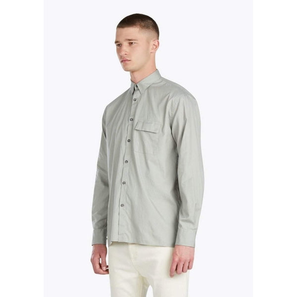 Zanerobe Box LS Shirt Pigment Sage-Salemonster