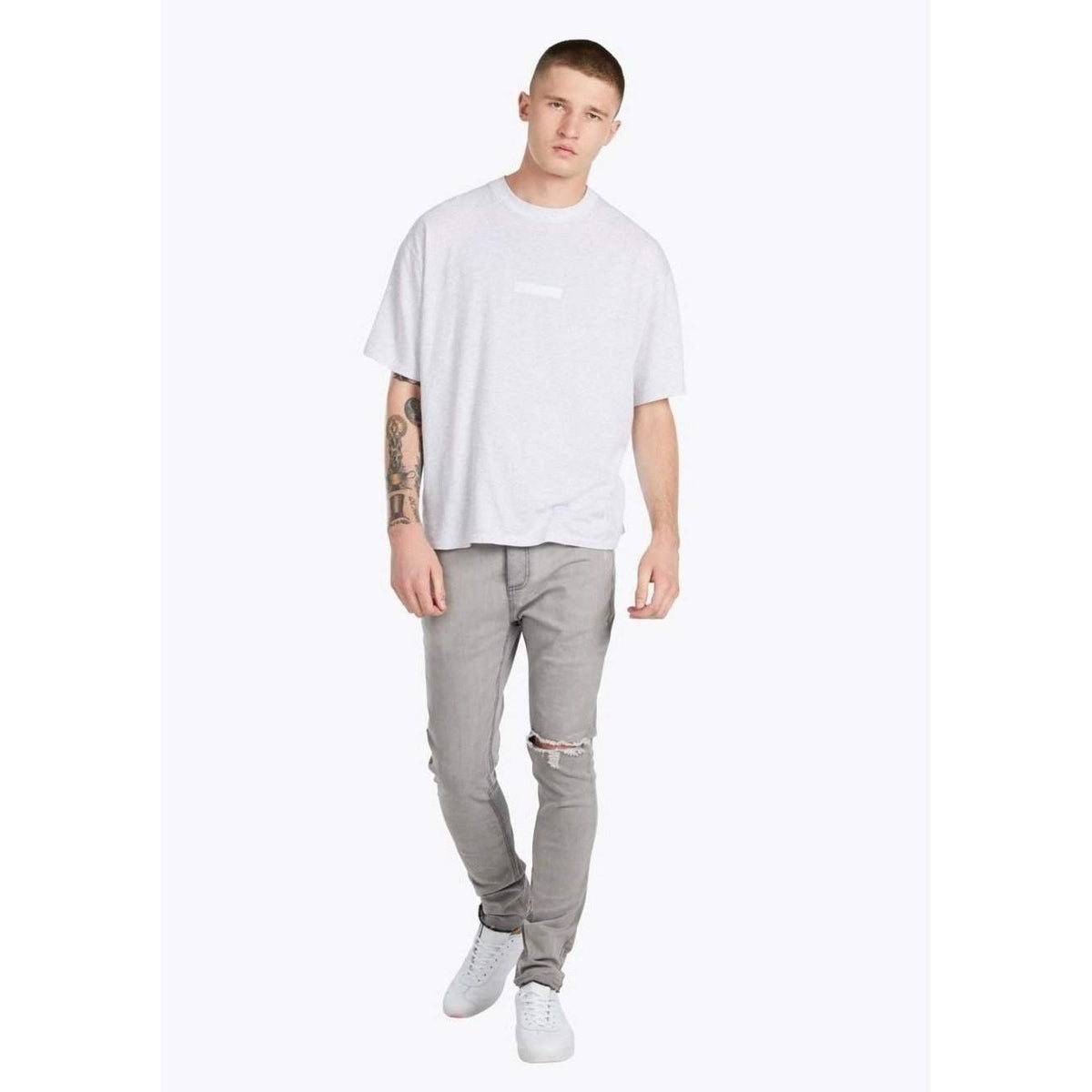 Zanerobe Joe Blow Destroyed Denim-Grey-Salemonster
