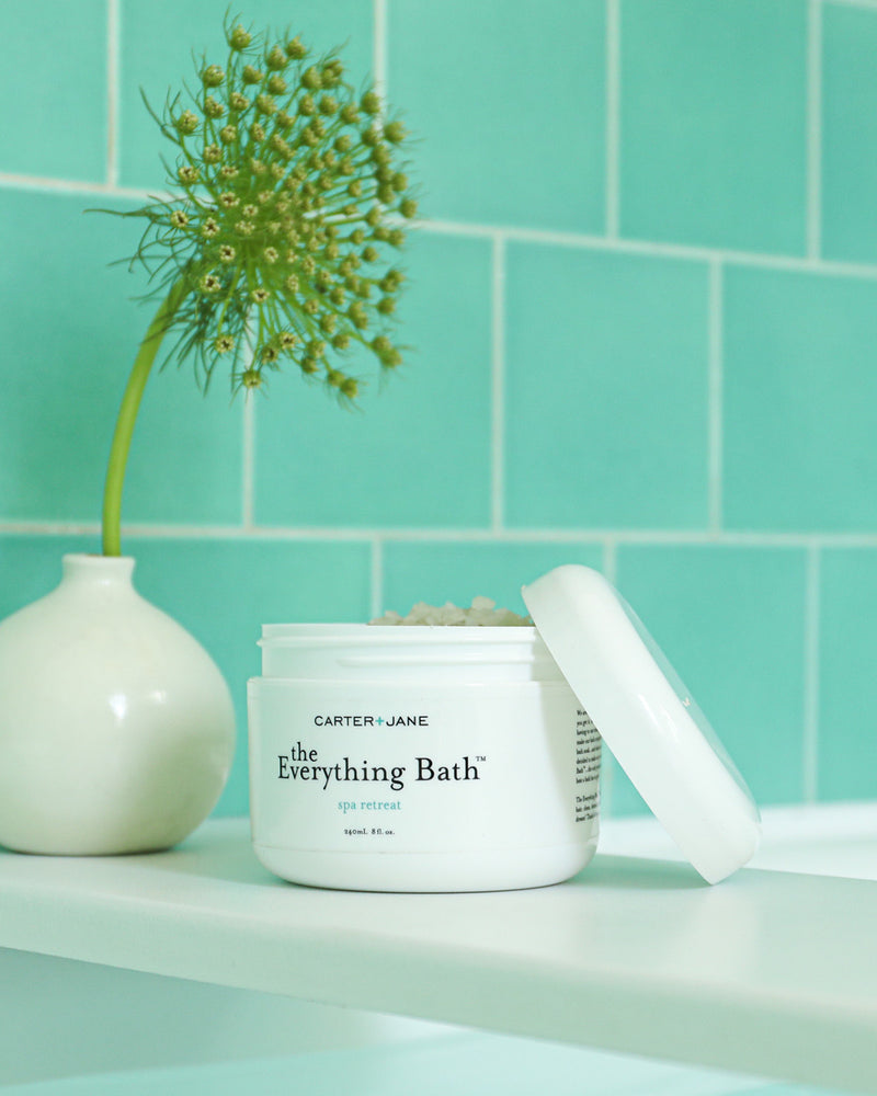 The Everything Bath™ will leave your skin, and even your hair, clean, detoxed, soft, hydrated and smelling like a dream! Think of it as your all-in-one spa at home!