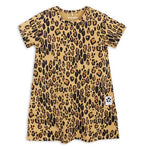 Basic Leopard Dress - Beige