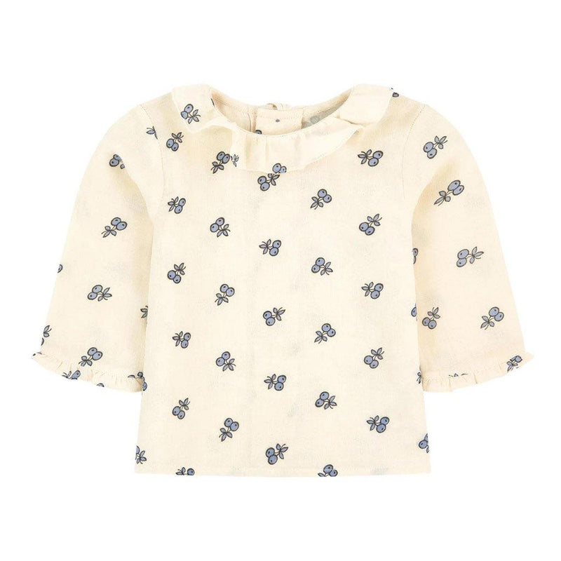 Ganiti Printed Baby Blouse - Ecru - Tim and Gerry's Sydney