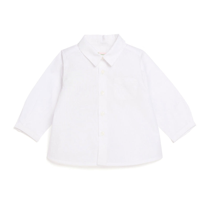 Pointed Collar Shirt - White