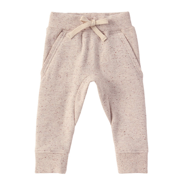 Organic Fleece Jogger - Beige Speckled