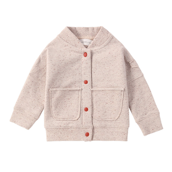Organic Fleece Jacket -  Beige Speckled