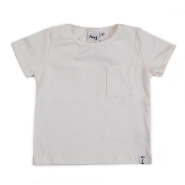 Ribbed Box Tee - White
