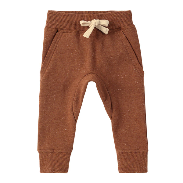 Organic Fleece Jogger - Caramel Speckled