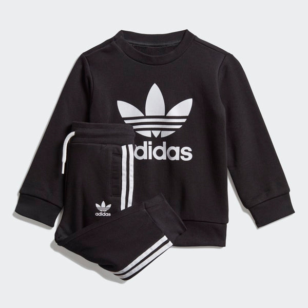 Crew Sweatshirt Set - Black / White