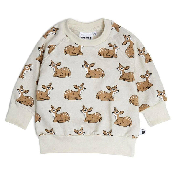 Fawn Terry Sweatshirt - Off White - Tim and Gerry's Sydney