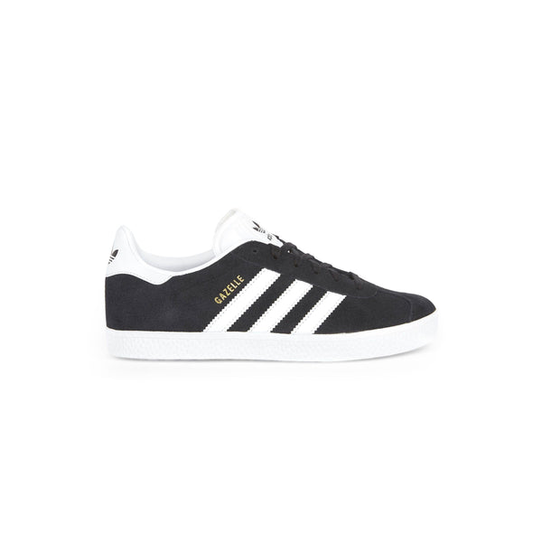 Youth Gazelle Shoes - Core Black / Cloud White / Gold Metallic