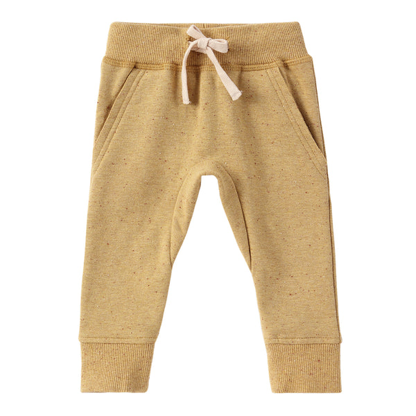 Organic Fleece Jogger - Ginger Speckled