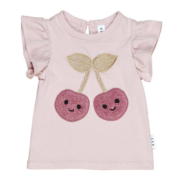 Cherry Frill Tee - Rose