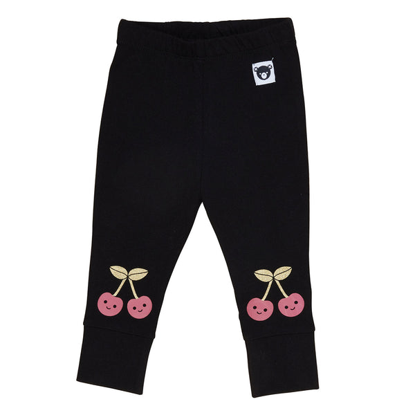 Cherry Knee Legging - Black