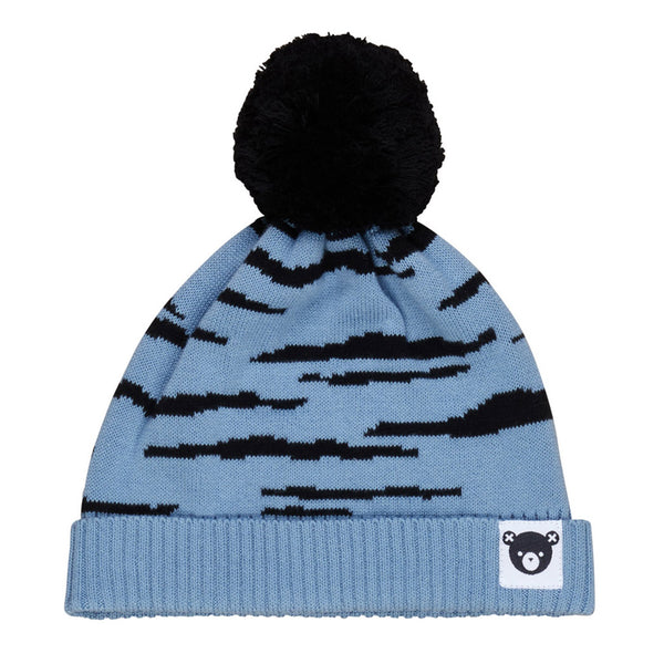 Denim Wildcat Knit Beanie - Denim