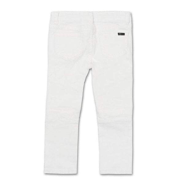 Clayton Biker Denim - White