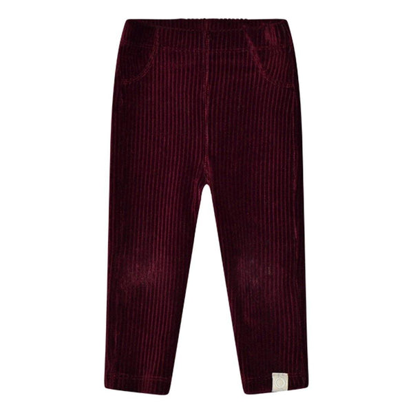 Hazel Baby Rib Pants - Bordeaux - Tim and Gerry's Sydney