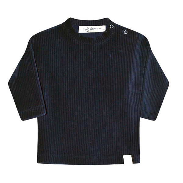 Hazel Baby Rib Sweater - Dark Blue - Tim and Gerry's Sydney