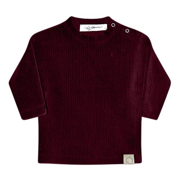 Hazel Baby Rib Sweater - Bordeaux - Tim and Gerry's Sydney