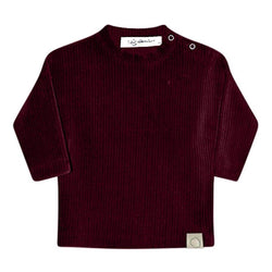 Hazel Rib Long Sleeve Top - Bordeaux