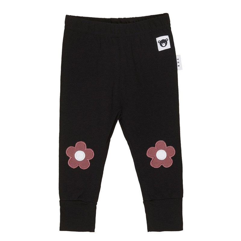Floral Knee Legging - Black - Tim and Gerry's Sydney