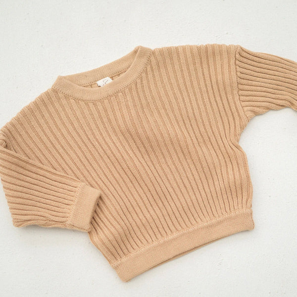 Essential Knit Pull Over - Caramel