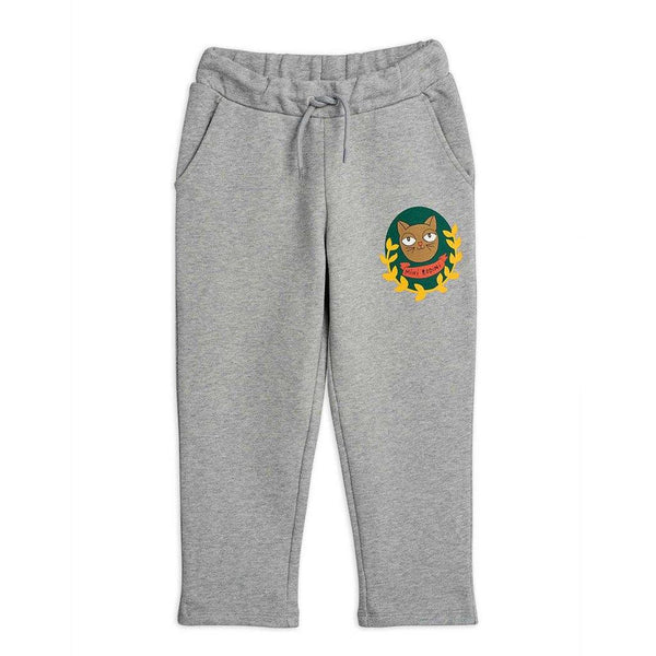 Cat Badge Sweatpants - Grey - Tim and Gerry's Sydney