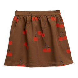 Cherry Woven Skirt - Brown