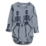 Skeleton AOP Long Sleeve Body - Blue