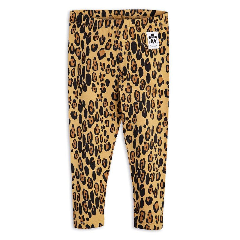 Basic Leopard Leggings - Beige