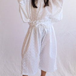 Pull Up Long Pant - Broderie Anglaise