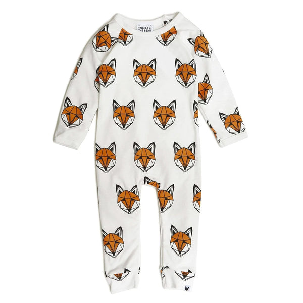Just Call Me Fox Long Romper - White