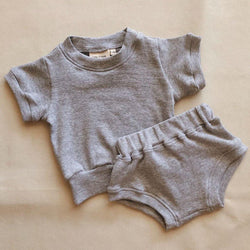 Roo Mini Ribbed Set - Grey Marle