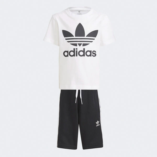 Kids Adicolor Shorts and Tee Set - White / Black