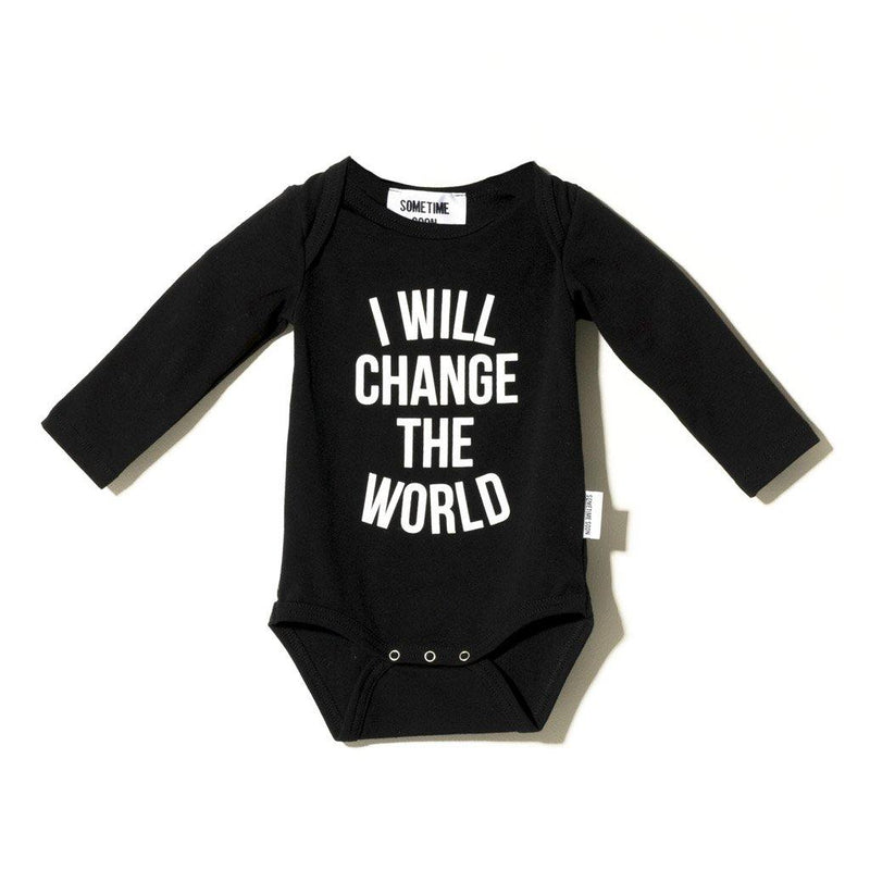 Baby Revolution Long Sleeve Body - Black - Tim and Gerry's Sydney