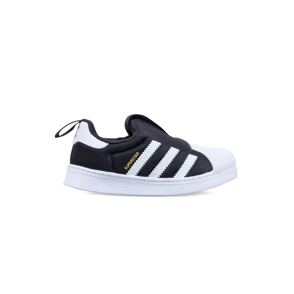 Toddler Superstar 360 Shoes - Core Black / Cloud White / Gold Metallic