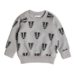 Boris The Badger Sweatshirt - Grey