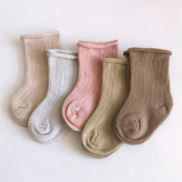 Ribbed Socks Pastel - Pack of 5 - Tim and Gerry's Sydney
