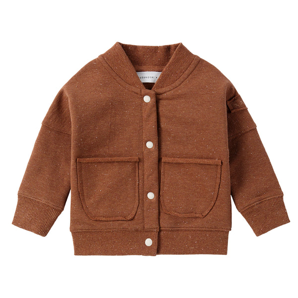 Organic Fleece Jacket -Caramel Speckled