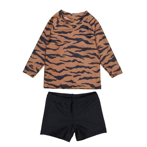 Tiger Rashguard 2Pc Set - Tiger/Black