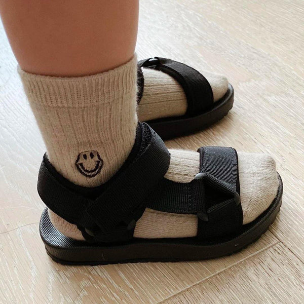 Olympia Velcro Sandals - Black - Tim and Gerry's Sydney