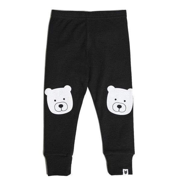 Bear Portrait Leggings - Black - Tim and Gerry's Sydney