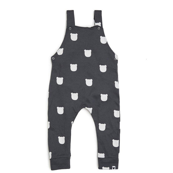 Charcoal Bear Dungarees - Charcoal - Tim and Gerry's Sydney