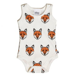 Just Call Me Fox Sleeveless Romper - White