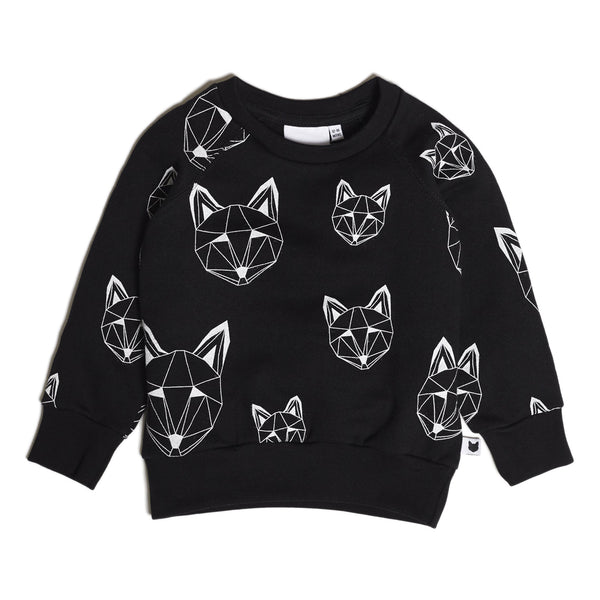 Just Call Me Fox Multi Sweatshirt - Black