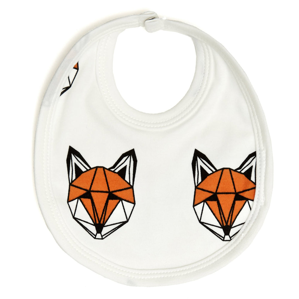 Just Call me Fox Bib - White