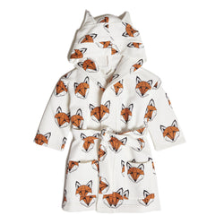 Just Call Me Fox Dressing Gown - White