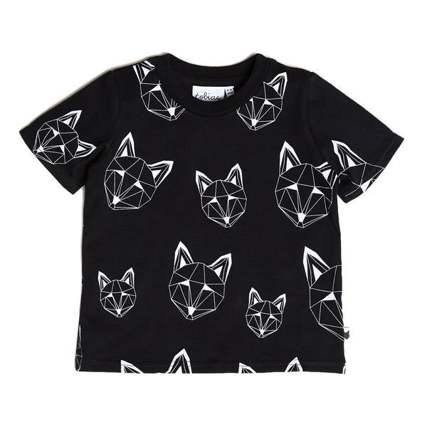 Just Call Me Fox Multi Tee - Black
